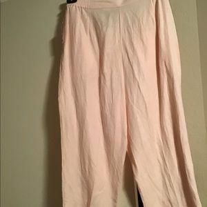 Linen Capri pants-new